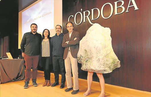 Miguel Ángel Moreno, Rosa Lara, Pedro Caro y Manuel Pedregosa en la presentación de la propuesta.