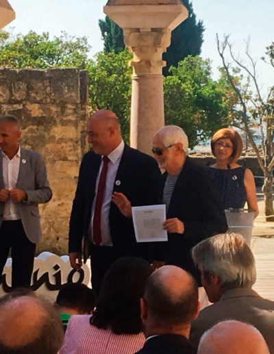 Juan Serrano / Diploma apoyo Candidatura Patrimonio de la Humanidad