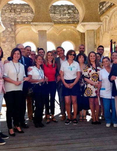 Trabajadores del Conjunto Arqueológico de Medina Azahara
