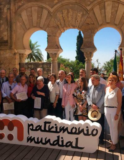 Entrega de diplomas a entidades y personas por su apoyo a la candidatura a Patrimonio de la Humanidad