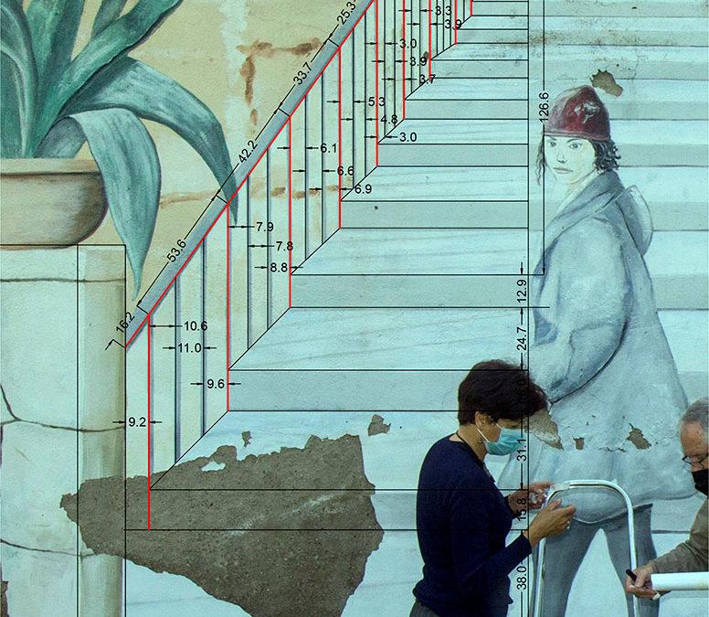 Restauración del mural de Pepe Duarte en el Jardín de los Poetas